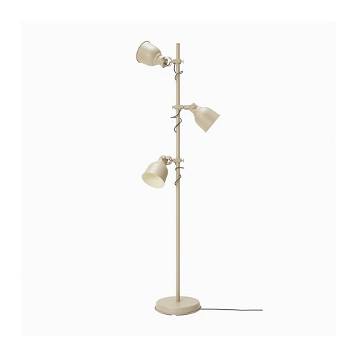 HEKTAR Floor lamp w/3-spots and LED bulbs IKEA