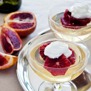Moscato Gelee with Blood Oranges