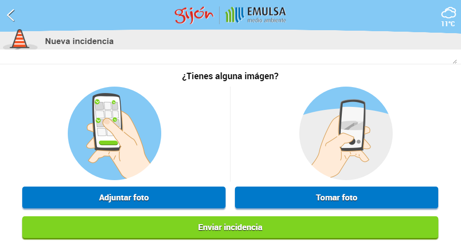 EMULSA. Incidencias y Avisos.- screenshot