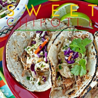 Sweet Chipotle Pork Tacos – made in the slow cooker!