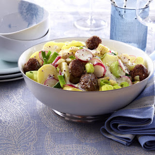 Potato and Meatball Salad