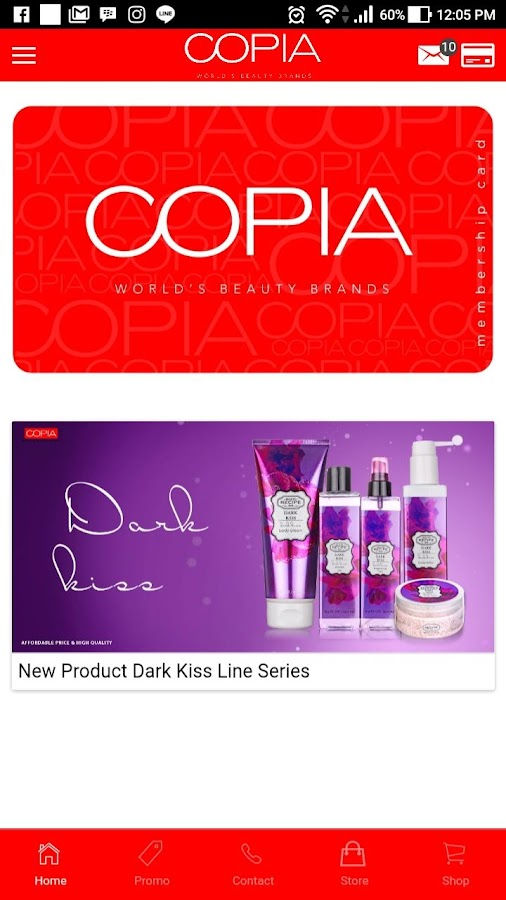 Copia Indonesia - World Beauty Brand Cosmetics- screenshot