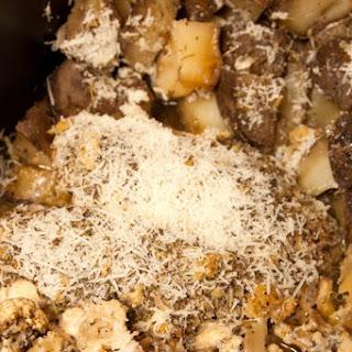 Slow Cooker Parmesan Garlic Chicken Bake.