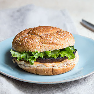 Portobello Mushroom Burger w/ Sriracha-Lime Sauce