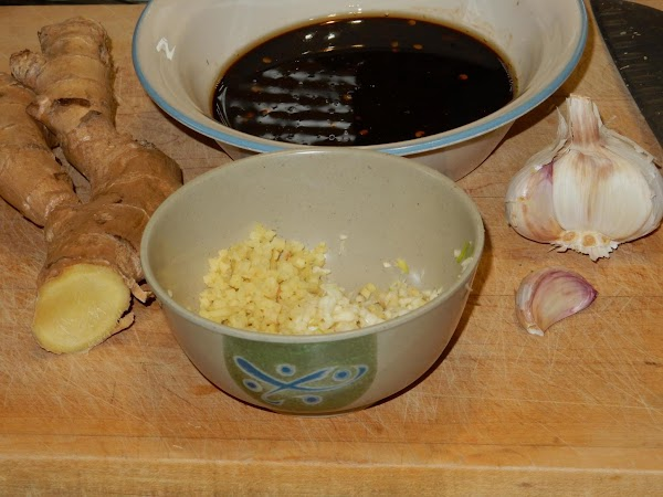 Heat oil in skillet or wok.  Stir-fry garlic and ginger until  ...