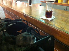 Photo: Malia at the Airport bar in Santiago, Chile