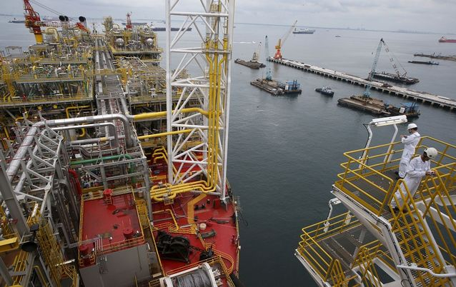 A view of the main deck of Tullow Oil's Floating Production, Storage and Offloading vessel (FPSO). Picture: REUTERS