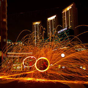 by Abah otox Baratawiria - Abstract Fire & Fireworks
