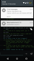 Screenshot of Weechat Android