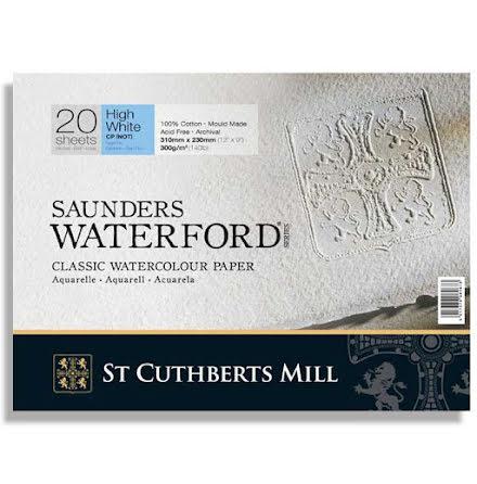 Akvarellblock Saunders Waterford 300g