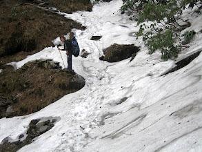 Photo: Doch urplötzlich stehen wir im Schnee