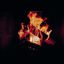 Fierce Heat by Amir Shahid - Abstract Fire & Fireworks ( heat, bright, fire, cinematic, logs )