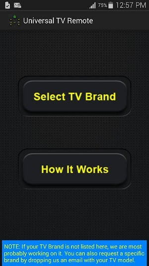 1 Universal TV Remote Control App screenshot