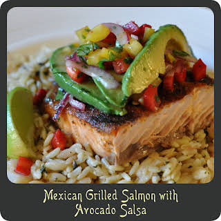 Recipe—Mexican Grilled Salmon with Avocado Salsa.