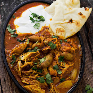 Indian Spiced Stew with Chicken and Potatoes.