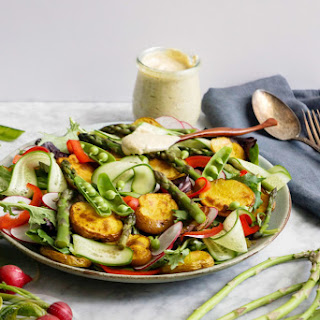 Roasted Potato Salad With Tahini Mustard Dressing