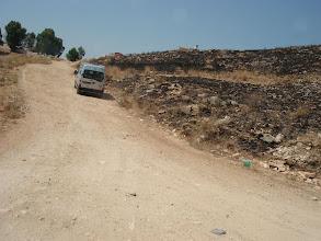 Photo: Nous venons de passer la frontière début de 10km de piste