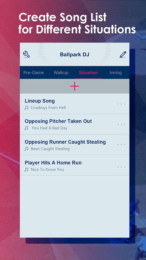 Ballpark Walkup Songs DJ- screenshot