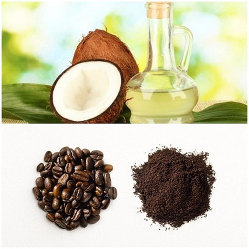 Cách làm trắng da toàn thân bằng bã cafe và dầu dừa