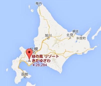 地図:緑の風リゾート きたゆざわ