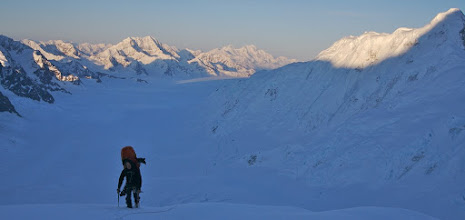 Photo: Down to pick the rest of our stuff and up the East Ridge again.