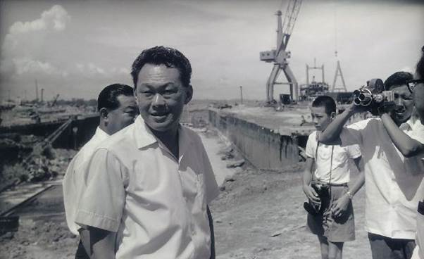 'The Architect of Modern Singapore'. Lee Kuan Yew, Jurong Industrial Estate, 1965. Picture: NATIONAL ARCHIVE OF SINGAPORE. URA