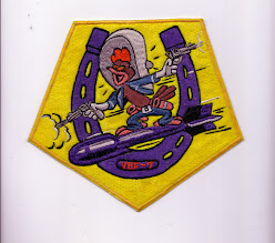 Photo: VBF-7 squadron insignia approved 25 June 1945. Established on 27 January 1945 and DIsestablished on 8 June 1946.Naval Aviation History