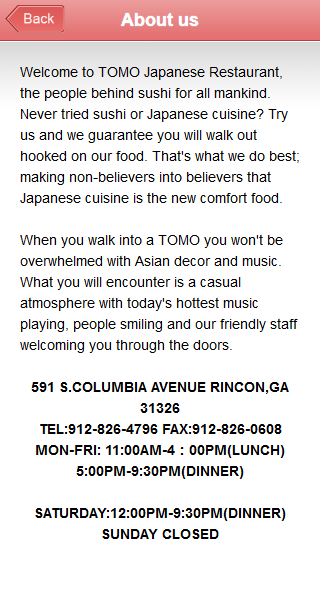 Tomo Japanese Restaurant- screenshot