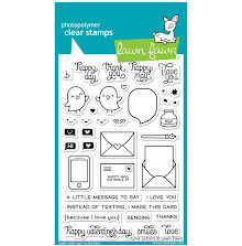 Lawn Fawn Clear Stamps 4X6 - Love Letters