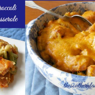 CHEESY BROCCOLI CHICKEN CASSEROLE