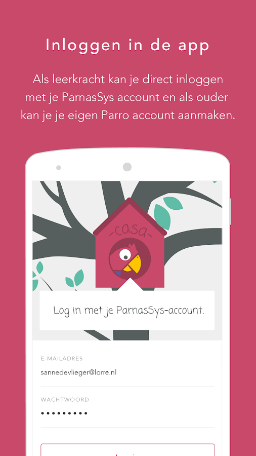 Parro- screenshot