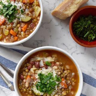 Lentil Minestrone Soup.