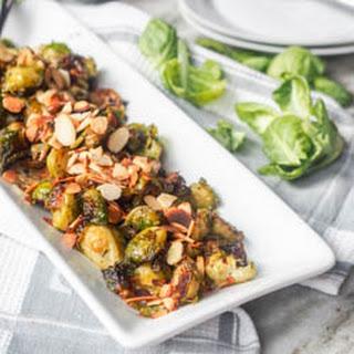 Vegan Pesto Roasted Brussels Sprouts {GF}
