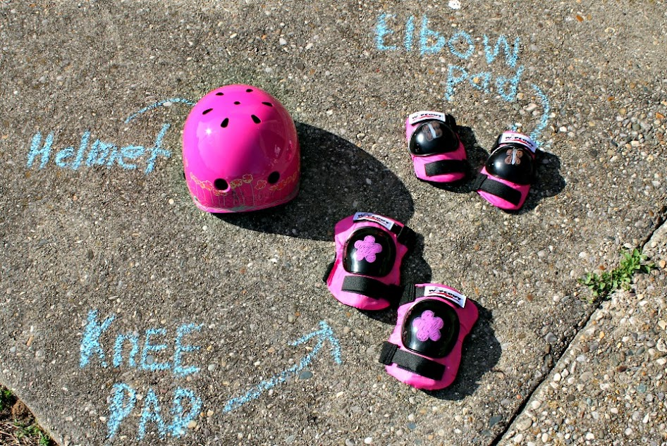 Wipeout Dry Erase Helmet, Elbow Pads, Knee Pads and Wrist Guards - Fun and stylish kids bike safety gear