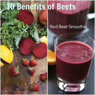 Red Beet Vitamix Smoothie with Kale, Apple, Orange, Berries in the Vitamix