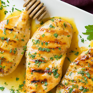 Grilled Chicken with Honey Mustard Glaze #Recipe