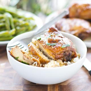 Sticky Baked Bourbon Chicken