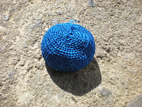Photo: Hacky Sack (or Chaki Sak) made by our host mom.