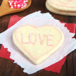 Skinny Heart-Shaped Sugar Cookies.