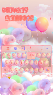 Holiday Balloons Keyboard Theme - náhled