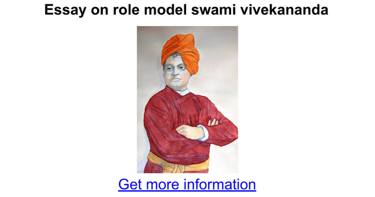 essay on role model swami vivekananda google docs
