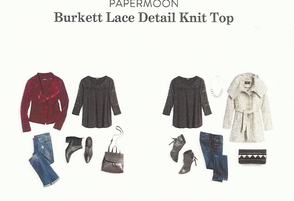 Fall 2017 Stitch Fix, Papermoon Burkett Lace Detail Knit Top
