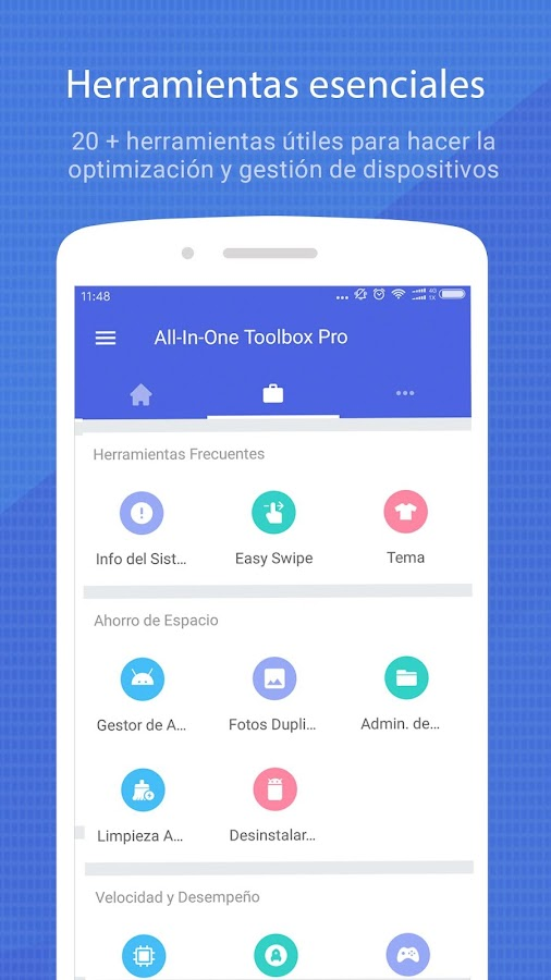 All-In-One Toolbox:  Limpiar, acelerar, optimizar: captura de pantalla