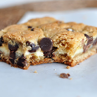 Cheesecake Stuffed Chocolate Chip Cookie Bars.