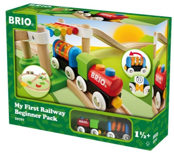 5. Brio My First Railway Beginner Pack