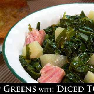 Turnip Greens with Diced Turnips