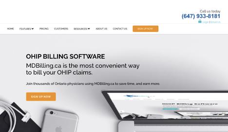 MDBilling homepage