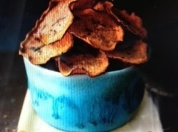 Orange Sweet Potato Baked Chips Recipe