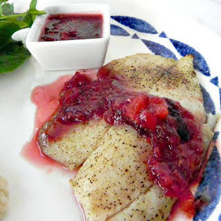 Tilapia with Raspberry Chipotle Sauce.