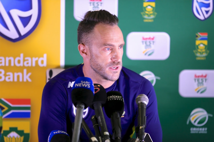 South Africa captain Faf du Plessis during the team's training session and press conference at St Georges Park on March 08, 2018 in Port Elizabeth, South Africa.